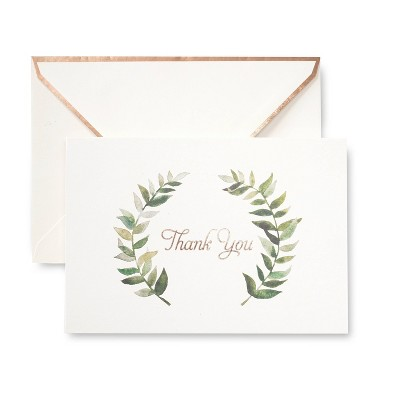 50ct 'Thank You' Cards with Wreath