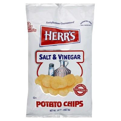 Herr's Salt & Vinegar Salt & Vinegar Potato Chips - 10oz