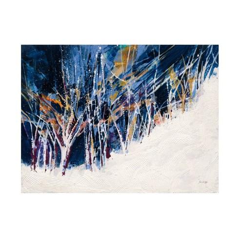 14 X 19 Jan Griggs Snowy Night Unframed Canvas Art Trademark Fine Art Target