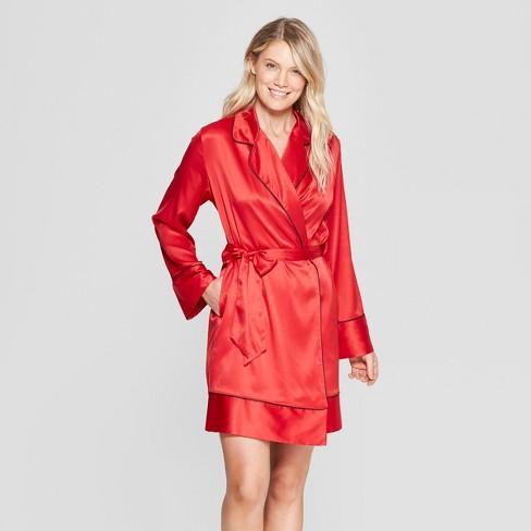 0f66ecdbd788 Women s Satin Robe - Gilligan   O Malley™ Red   Target