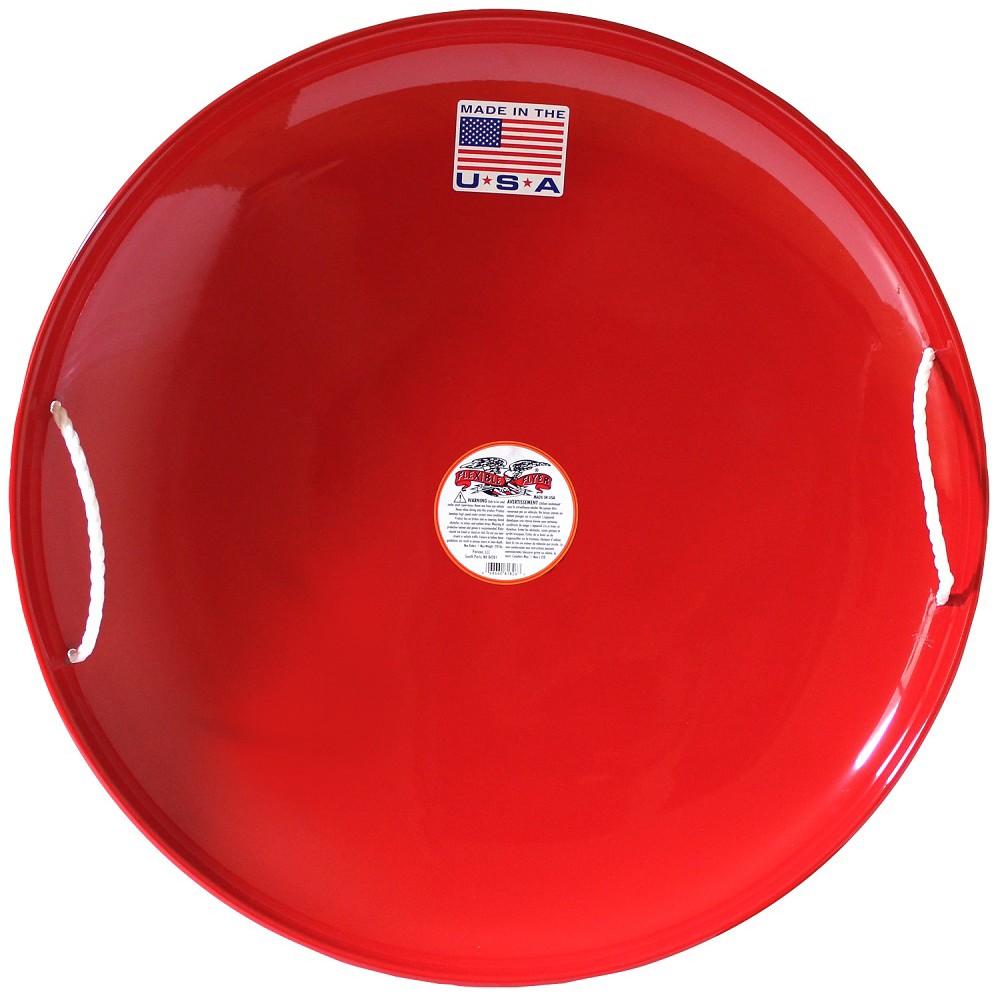 Flexible Flyer Steel Saucer Sled - Red