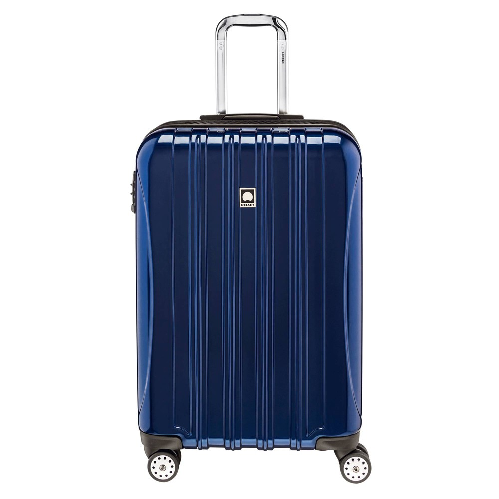 "Image of ""DELSEY Paris Aero 25"""" Expandable Spinner Upright Suitcase - Blue"""