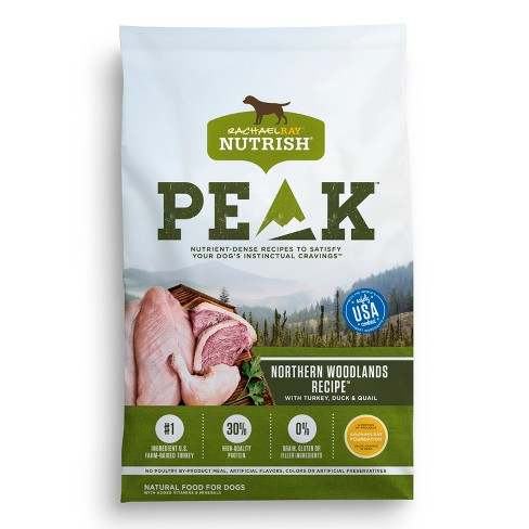 Rachael Ray Nutrish PEAK Natural Dry Dog Food Northern Woodlands Recipe with Turkey, Duck & Quail - image 1 of 2