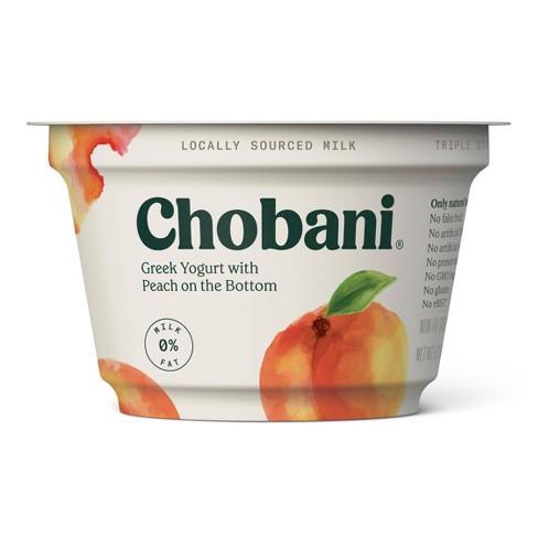 Chobani Peach on the Bottom Nonfat Greek Yogurt - 5.3oz - image 1 of 1