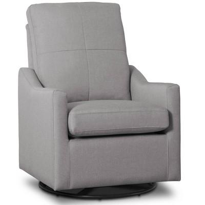 Delta Children Kenwood Slim Nursery Glider Swivel Rocker Chair - Gray