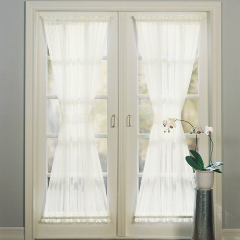 Emily Voile Rod Pocket Sheer Door Curtain Panel - No. 918 - image 1 of 4