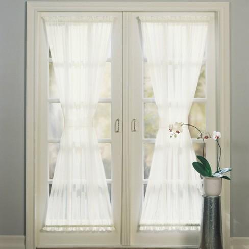 """Sheer Voile Door Curtain Panel (59""""x72"""") No. 918 - image 1 of 4"""