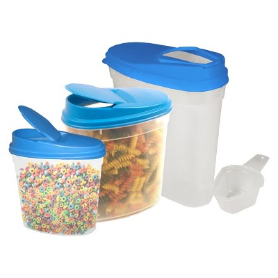 Stor-All Solutions Food Storage Container set Clear Blue