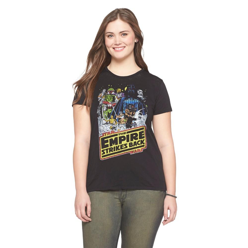 Women's Fifth Sun Plus Size Star Wars Black T-Shirt 1X