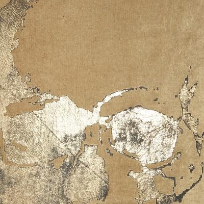 "Mina Victory Luminecence Metallic Skull Beige/Gold Pillow - 20""X20"" : Target"