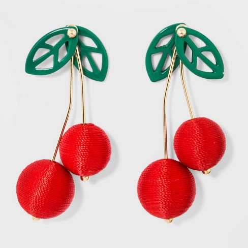SUGARFIX by BaubleBar Cherry Drop Earrings - Red - image 1 of 3