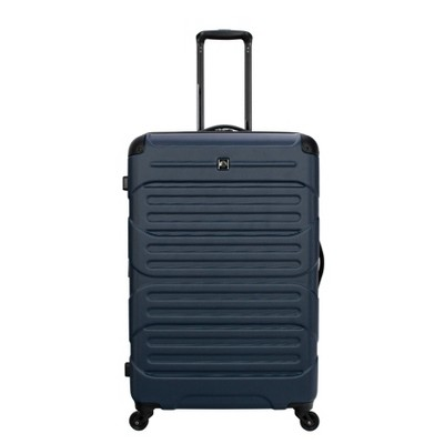 "Skyline 28"" Hardside Spinner Checked Suitcase - Navy"