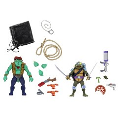 "Teenage Mutant Ninja Turtles - 7"" Scale Action Figure - Cartoon Series 3 Leatherhead & Slash"