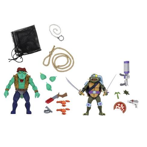 """Teenage Mutant Ninja Turtles - 7"""" Scale Action Figure - Cartoon Series 3 Leatherhead & Slash - image 1 of 3"""