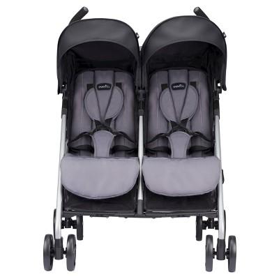 Evenflo Minno Twin Double Stroller Glenbarr Gray