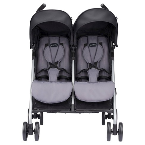 Evenflo® Minno Twin Double Stroller Glenbarr Gray - image 1 of 19