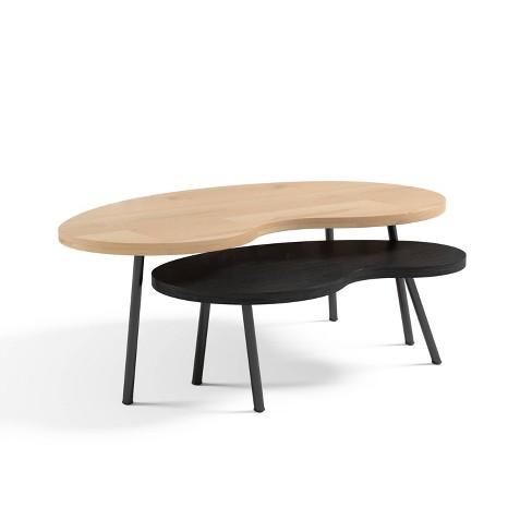 Nesting Mid Century Wood Coffee Table