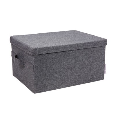 Bigso Box of Sweden Storage Box Knock Down Medium Gray
