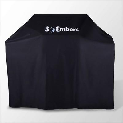 "57"" Premium Grill Cover Black - 3 Embers"