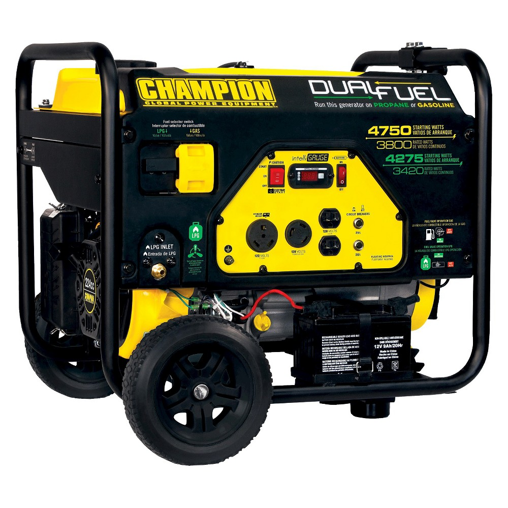 Image of 3800W/4750W Generator, 224cc, CARB Compliant - Champion Power