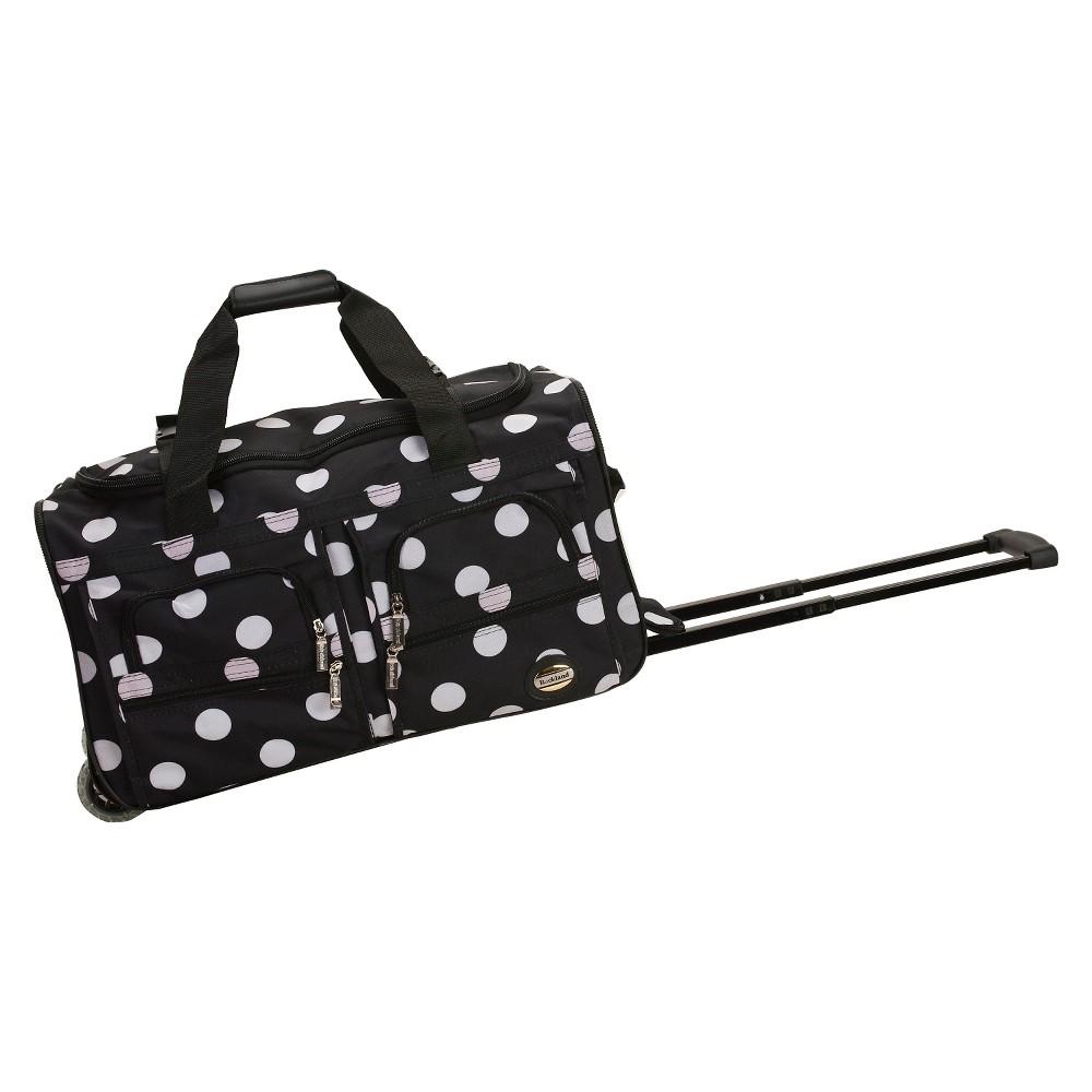 Rockland Rolling Duffel Bag Black Dot 22 34