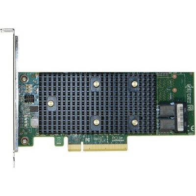 Intel Tri-Mode PCIe/SAS/SATA Entry-Level RAID Adapter, 8 Internal Ports - 12Gb/s SAS, Serial ATA/600 - PCI Express 3.0 x8 - Plug-in Card