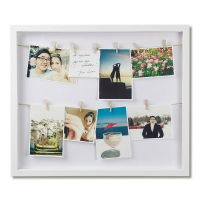 Clothesline Photo Display White - Umbra