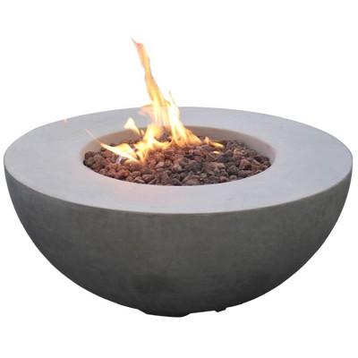 "Roca 34"" Natural Gas Fire Pit Outdoor Backyard Patio Heater - Elementi"