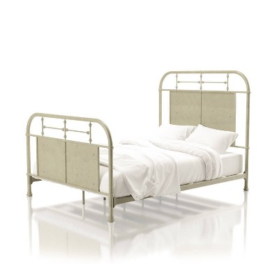 Twin Ford Metal Youth Bed Distressed Ivory - ioHOMES