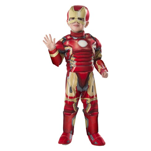 Toddler Kids' Marvel Iron Man Muscle Halloween Costume 3T-4T - image 1 of