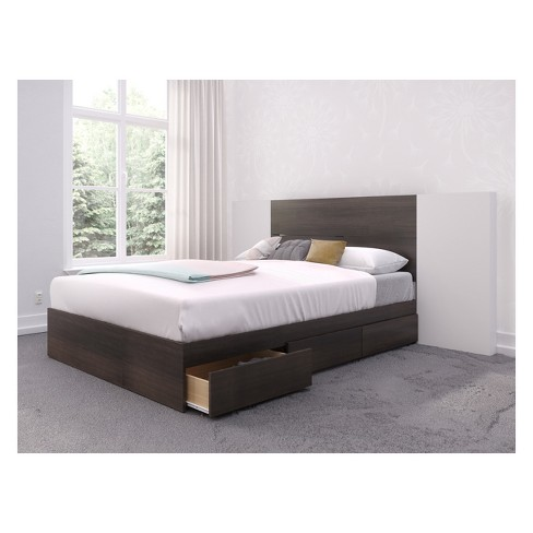Alaska Storage Bed with Headboard and Extension Panels - Nexera - image 1 of 4