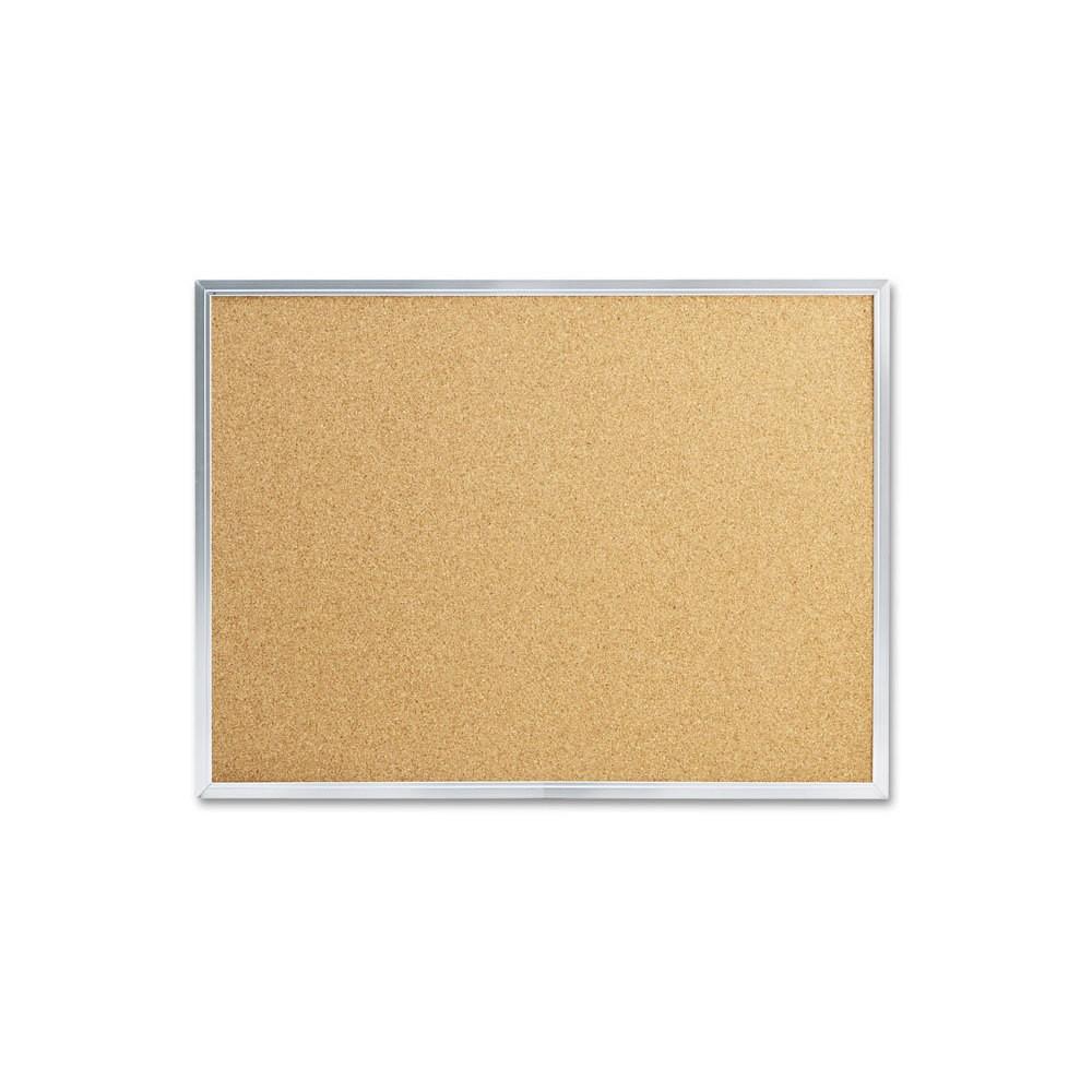 Image of Mead Cork Bulletin Board, 24 x 18, Silver Aluminum Frame