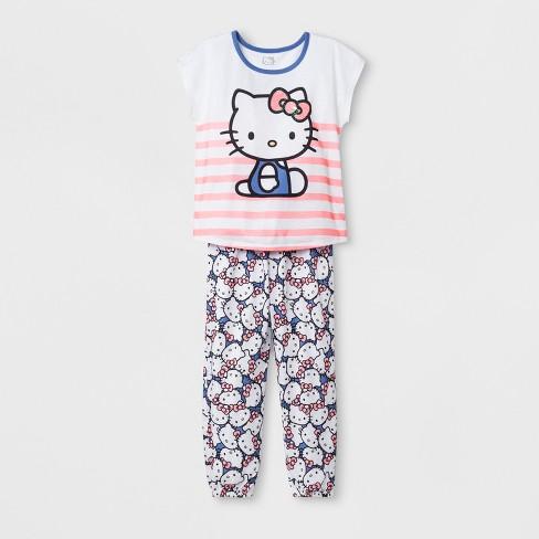 27a21ed6c Girls' Hello Kitty 2pc Pajama Set - White : Target