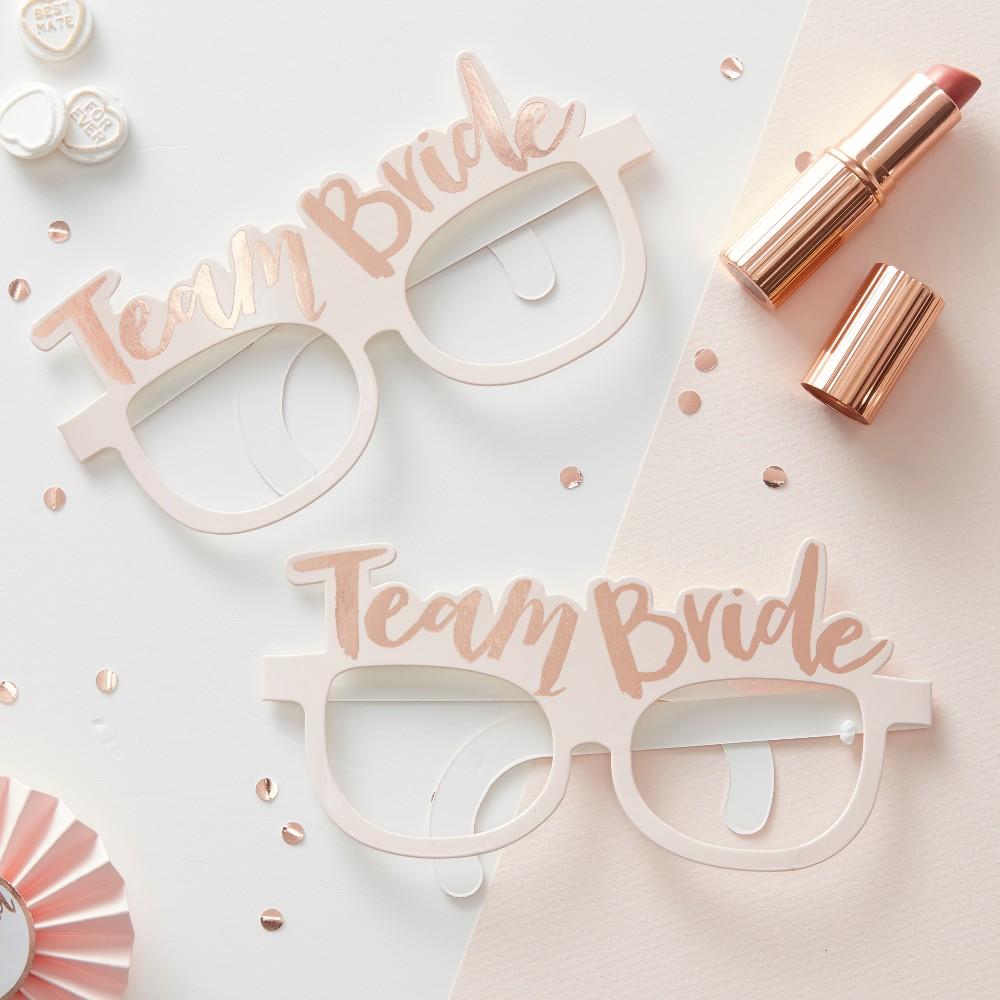 Image of 8ct Ginger Ray Pink Team Bride Hen Party Glasses Team Bride