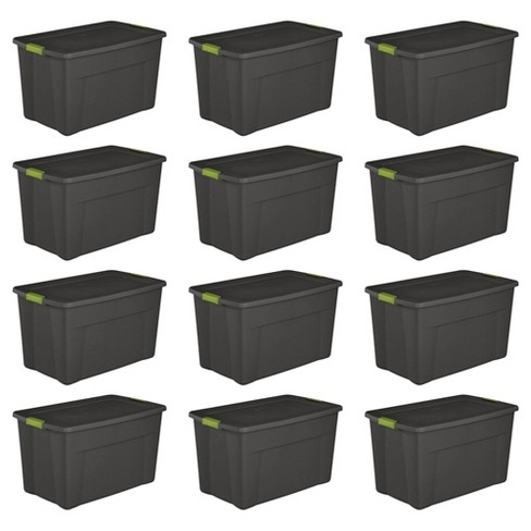 Sterilite 19453V04 35 Gal. Storage Tote Box w/ Latching Container Lid (12 Pack) - image 1 of 4