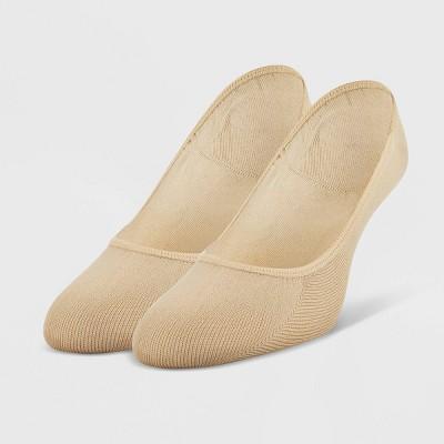 Peds Women's Extended Size 2pk Microfiber Liner Socks - 10-12
