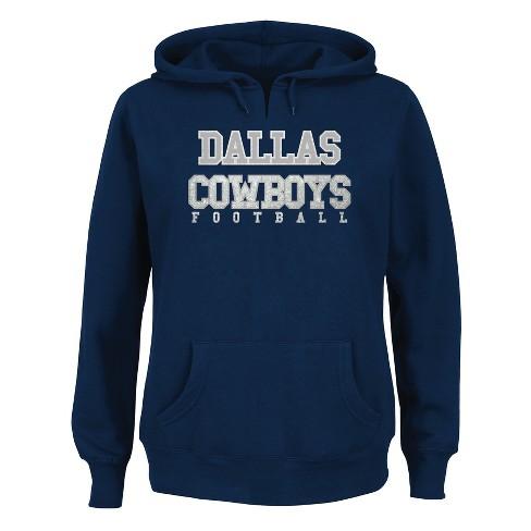 NFL Dallas Cowboys Women s Gray Dallas Cowboys Plus Size Poly Fleece Hoodie ab4824d0a
