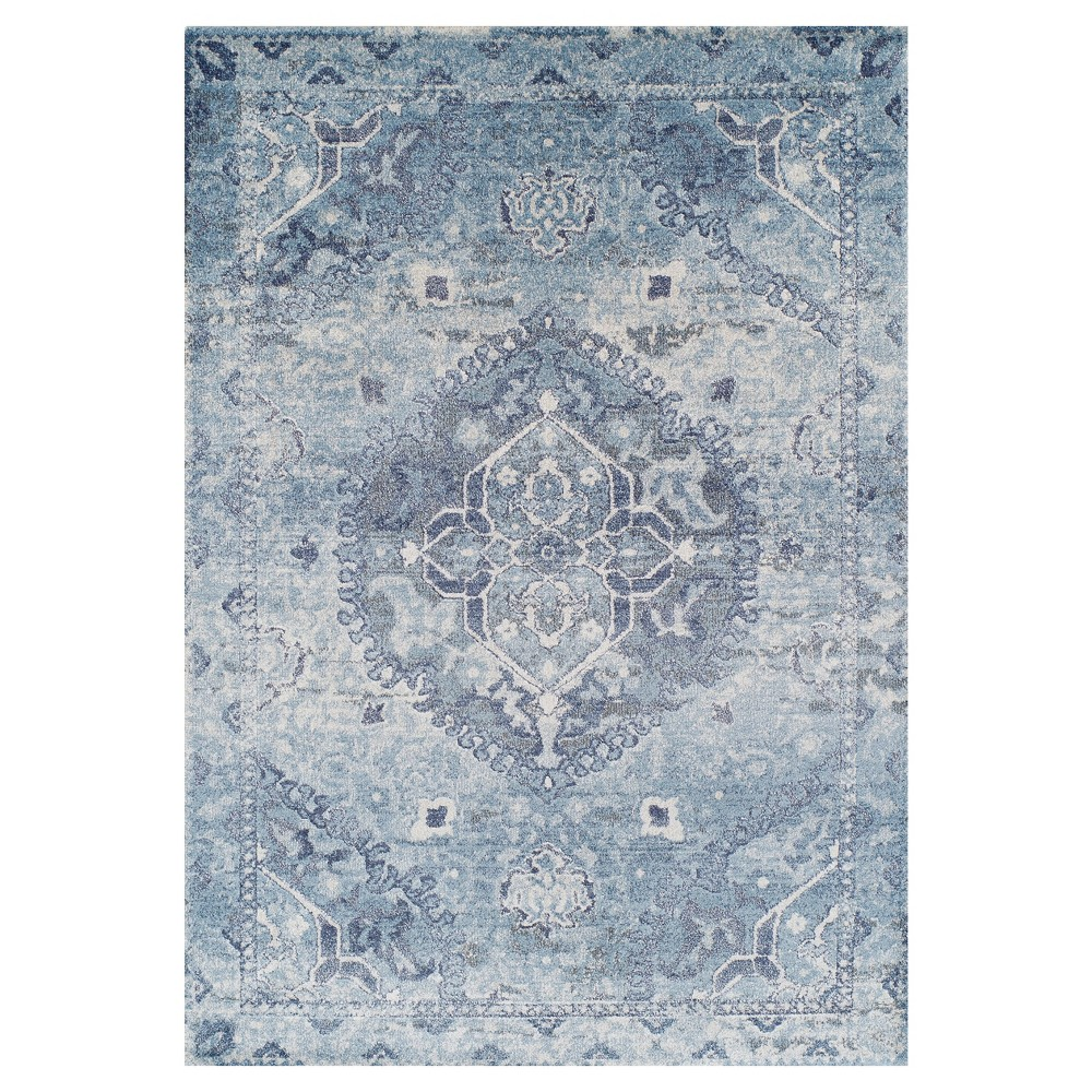 Blue Solid Woven Area Rug 9'6X13'