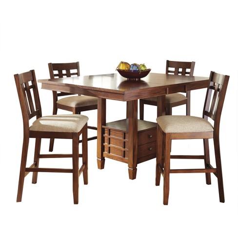 Ronan Counter Height Dining Table Oak Steve Silver