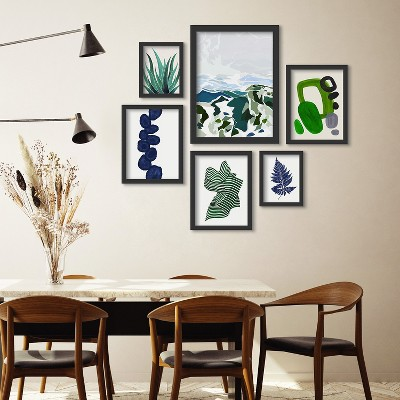 Americanflat Green Mountains by Louise Robinson 6 Piece Framed Gallery Wall Art Set