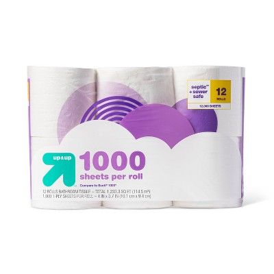 1000 Sheets per Roll Toilet Paper - up & up™