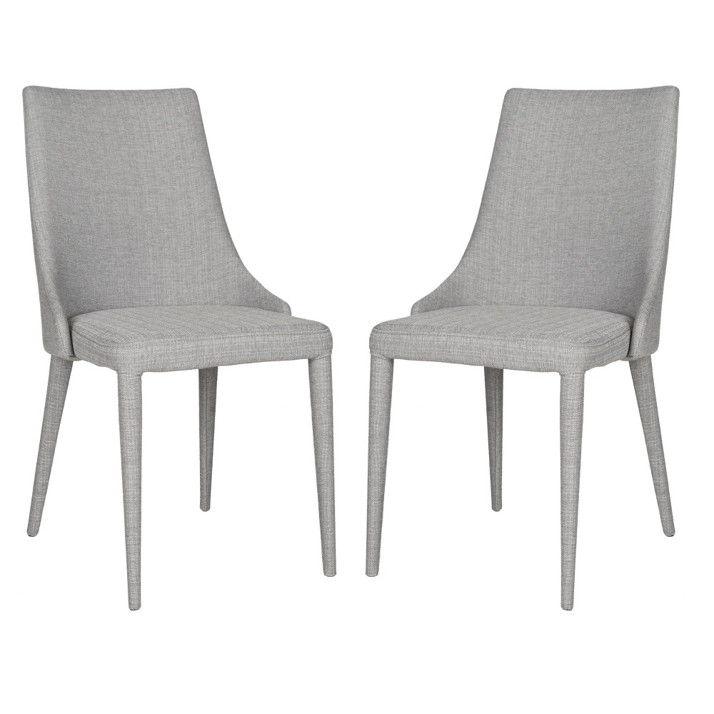 Summerset Side Dining Chair - Linen Gray (Set of 2) - Safavieh