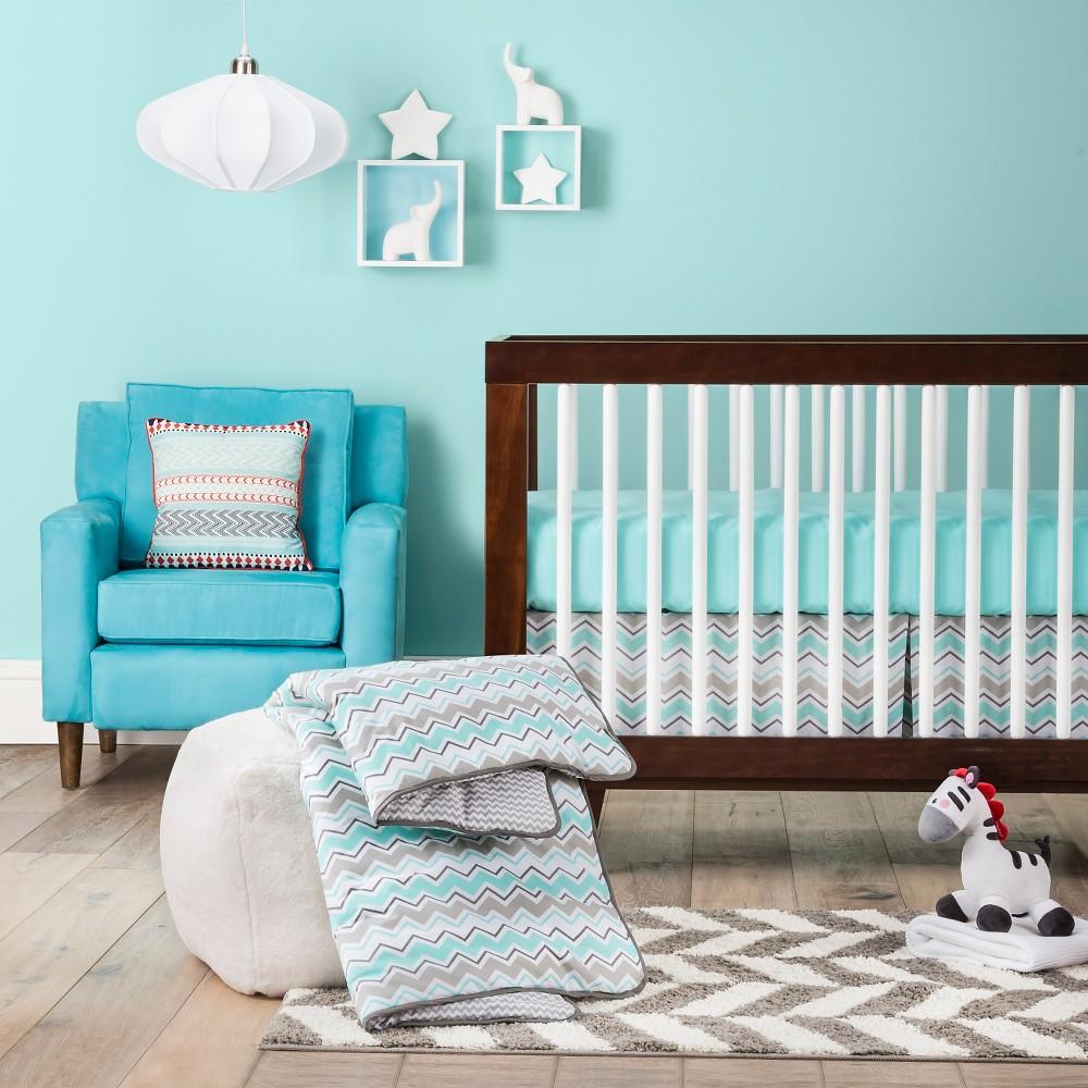 Trend Lab 3pc Crib Bedding Set - Seashore Waves, Turquoise