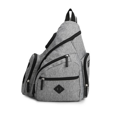 Eddie Bauer Diaper Bag - Solid Gray