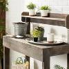 6pc Decorative Stoneware Planter & Marker Set Sour Cream - Hearth & Hand™ with Magnolia - image 2 of 3
