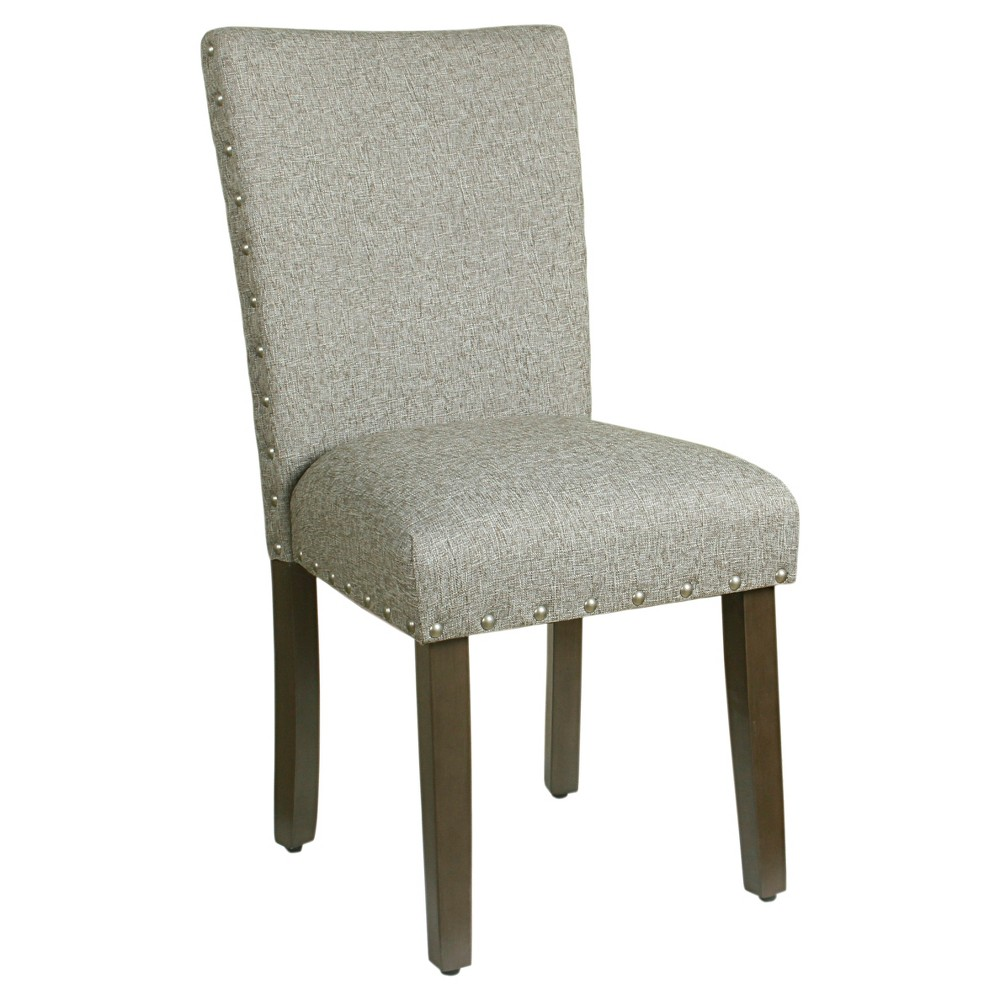 Set of 2 Classic Parsons Chair with Nailhead Trim - Sterling Gray - Homepop was $199.99 now $149.99 (25.0% off)