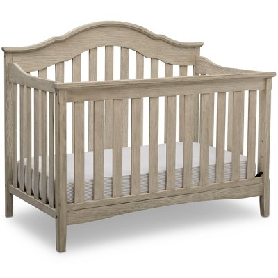 Delta Children Farmhouse 6-in-1 Convertible Crib - Textured Limestone
