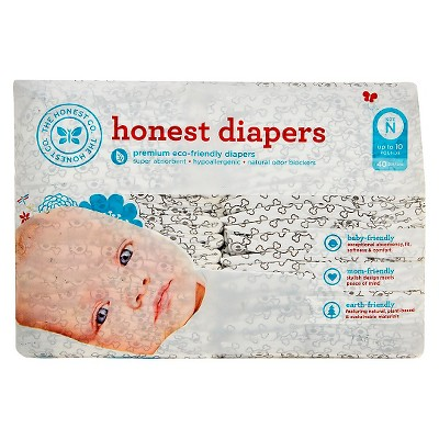 Honest Company Diapers Skulls - Newborn (40ct)