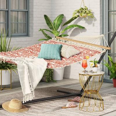 Pillowtop Hammock with Spreader Bar Tropical Leaf - Threshold™