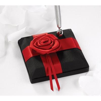 1pc Midnight Rose Wedding Collection Pen Set